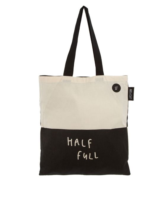 """Half Full"" shopping tote :)"