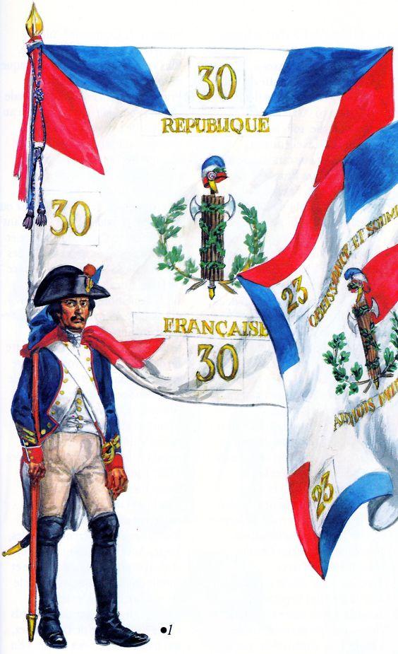 Porte drapeau de la 30e Demi-brigade