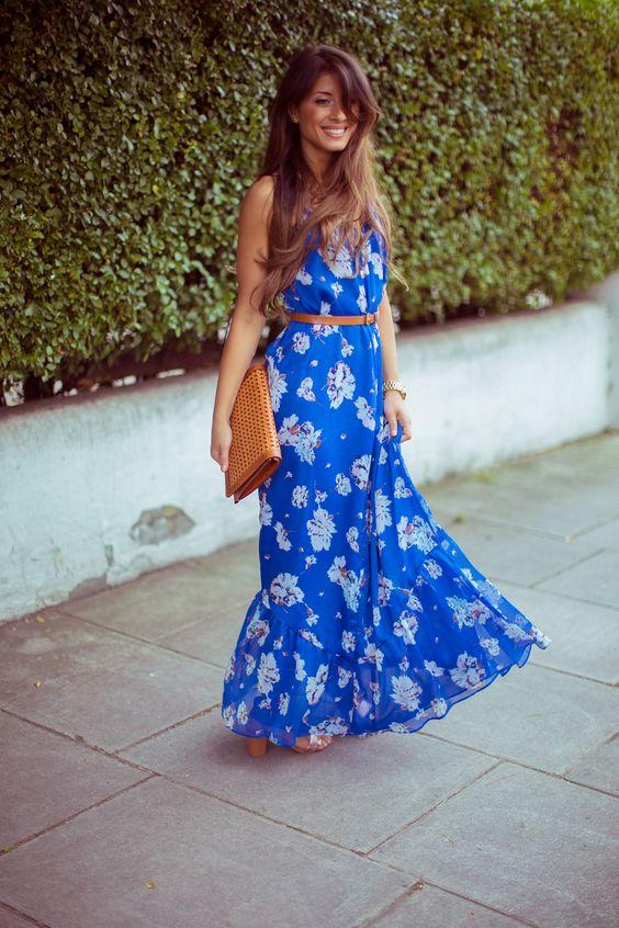 Summer fashion - floral maxi dress - Outfit details: maxi dress ...