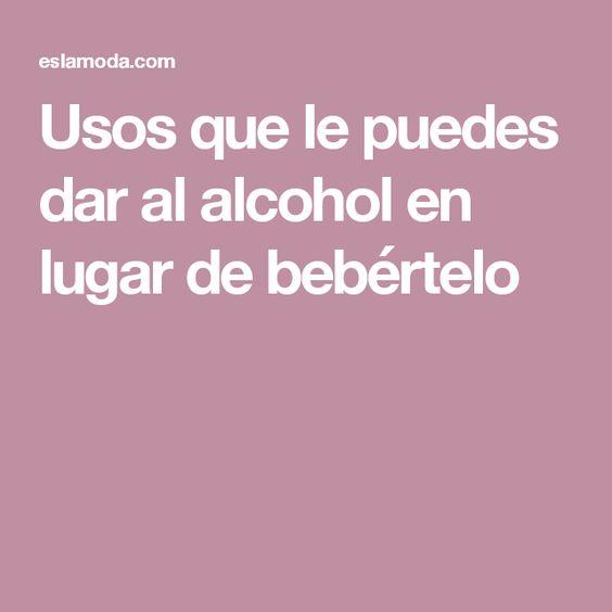 Usos que le puedes dar al alcohol en lugar de bebértelo