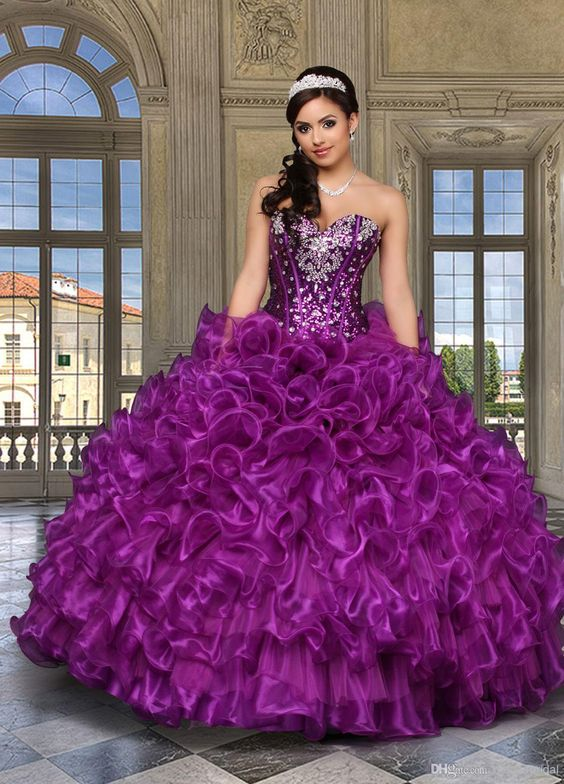 LM Porcelain Sweetheart Beaded 2014 Purple Quinceanera Dress Quinceanera Dresses | Buy Wholesale On Line Direct from China