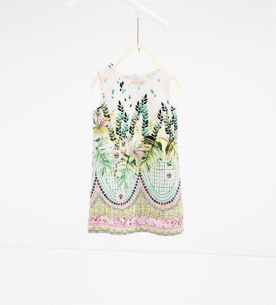 Image 1 de Robe à feuilles de Zara