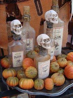skeletons: Holiday Ideas, Halloween Potion, Decor Crafts Party Ideas, Holidays Halloween, Halloween Crafts, Halloween Bottles, Bone Resin, Craft Ideas, Halloween Ideas