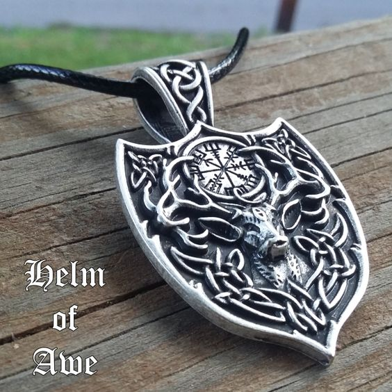 This stag helm of awe necklace includes a mighty runic symbol the this stag helm of awe necklace includes a mighty runic symbol the name of this aloadofball Images