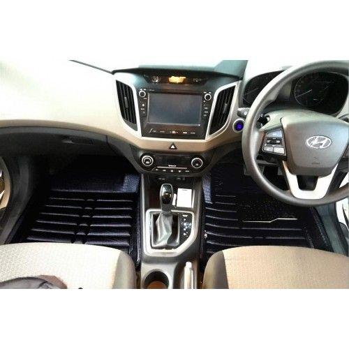 Hyundai Creta Premium 5d Car Floor Mats Set Of 3 Black Hyundai Car Floor Mats Car
