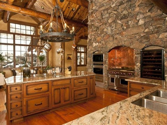Luxury Cabins Kitchen Attractive Luxury Log Cabin