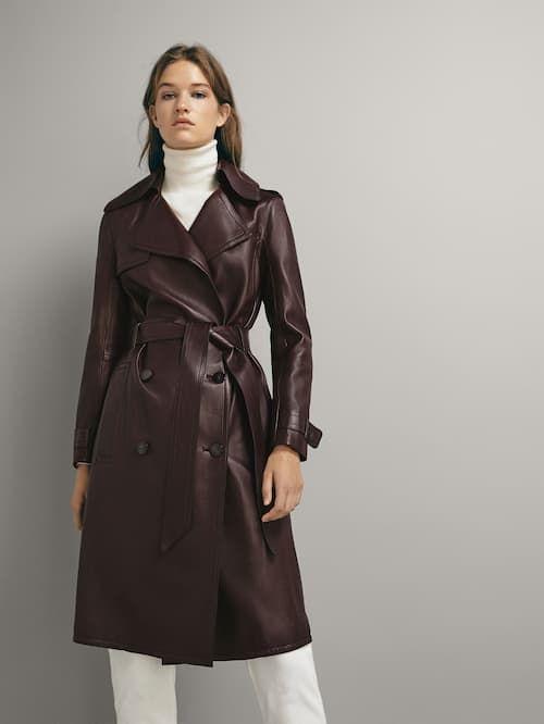 Leather Collection Women Massimo Dutti Bosnia Herzegovina Trench Coats Women Leather Trench Coat Woman Coat