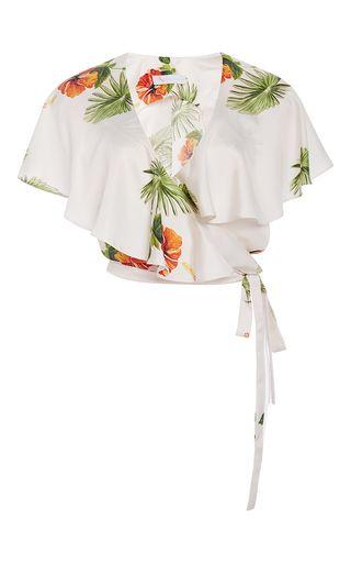 Christine Alcalay Hibiscus Print Skirt