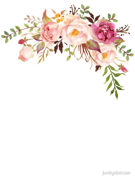 Romantic Watercolor Flower Bouquet by junkydotcom:
