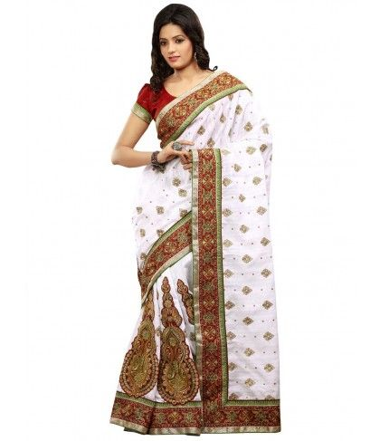 High sensed style and luxury saree is specially created for your personality. Item Code: SAY9076