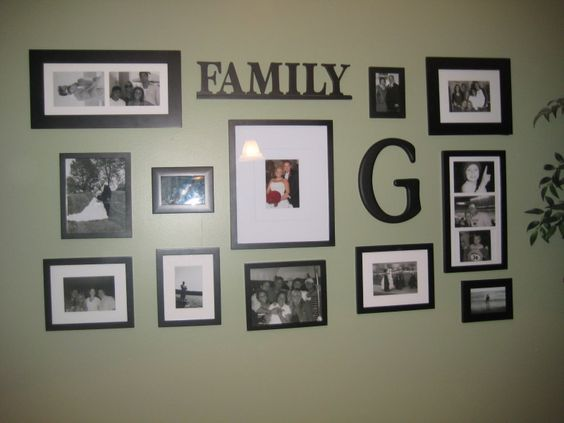 another photo wall layout idea. I want to do one of these someday so bad!