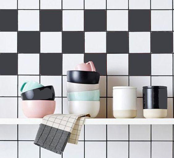 cuisine salle de bain stickers vinyle autocollant de tuile couleur unie - Stickers Tuile Vinyle Salle De Bain
