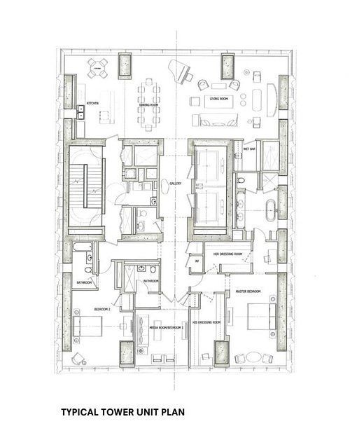 111 West 57th Street Floorplan Home Floorplans