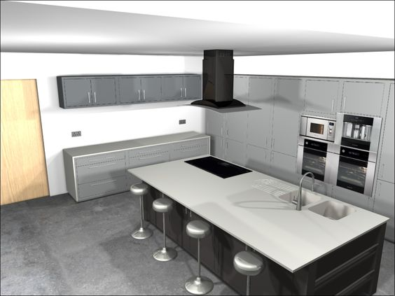 Grey modern classic and new builds on pinterest for Award winning kitchen designs