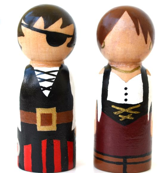 Pirate Wooden Doll - Waldorf Peg Doll. $17.00, via Etsy.