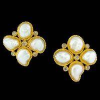Carolyn Tyler Provence Keshi Pearl Earrings