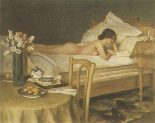 womenreadingseries:    Der Bücherwurm (The Bookworm) by Hermann Fenner-Behmer (1866–1913).