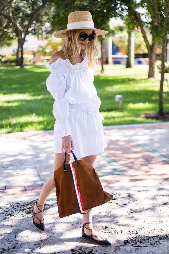 Little Blonde Book A Fashion Blog by Taylor Morgan: Little White Dress