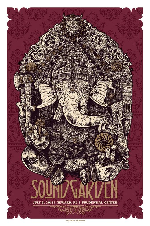 Soundgarden - by Justin Kamerer (AKA 'Angryblue') #soundgarden #sound #garden #music #rock #band #rockband #grungerock #records #album #goodmusic