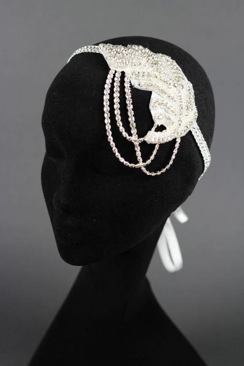austrian crystal bridal headband