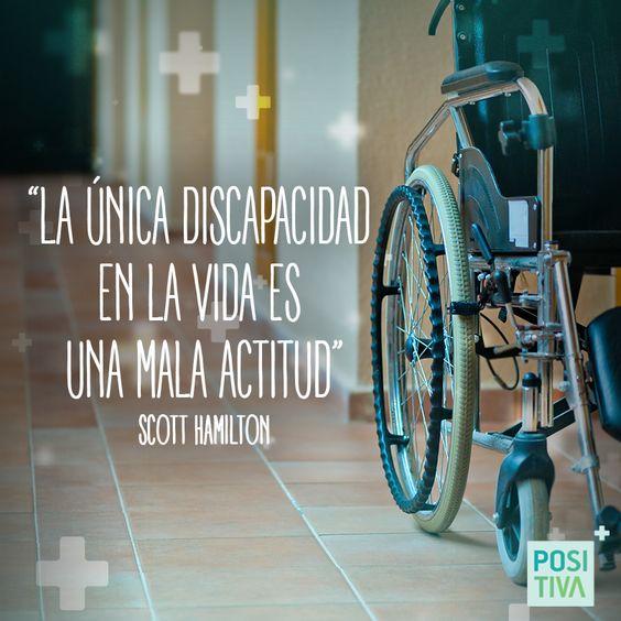 Los límites son invisibles ante una buena actitud #Frases #Positivo #actitud #discapacidad #vida #positivity #feliz #happy #quotes