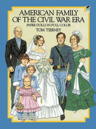 Nine paper dolls come with 36 authentic period costumes, including hoop skirts…