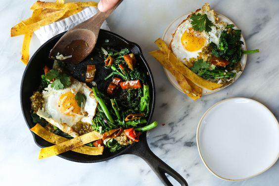 Broccoli Rabe Mexican Breakfast Skillet