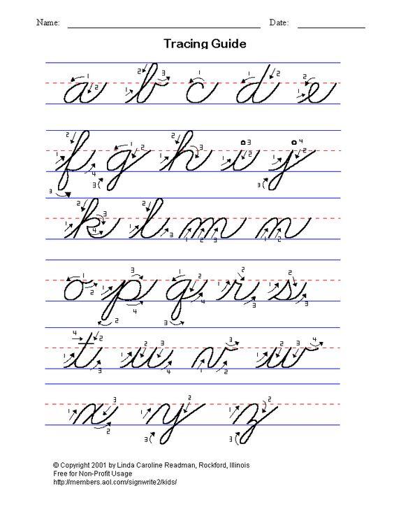 Basic cursive writing - lower case. My handwriting needs ...