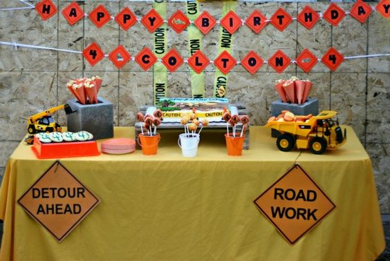 In case B ever has a construction party... super cute ideas!