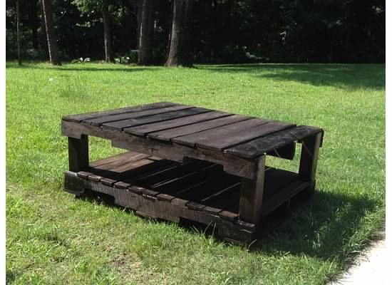 Hand built, custom outdoor patio table, made with pallets