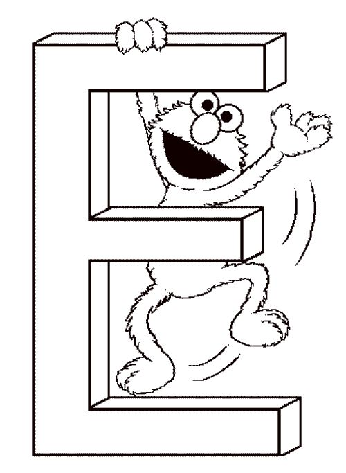 Free Coloring Pages Alphabet Sesame Street : Free printable sesame street coloring pages