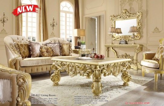 Hd 7266 Homey Design Bedroom Set Victorian European Classic