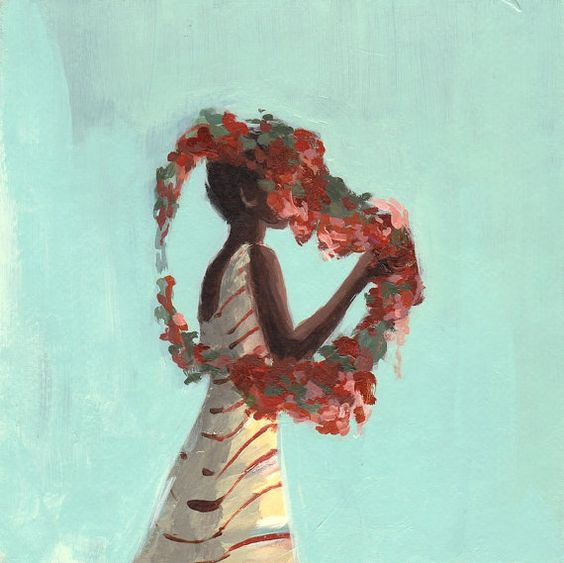 Rose Queen . 8 x 8 giclee digital art print of by ClareElsaesser, $25.00