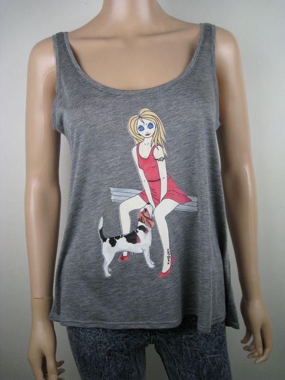 Um close-up de alguns dos nossos Alice Brands imagens muito diferentes em partes superiores das mulheres. www.etsy.com/shop/AliceBrands. www.alicebrands.co.uk. #alicebrands. #dogs #fbloggers #bbloggers