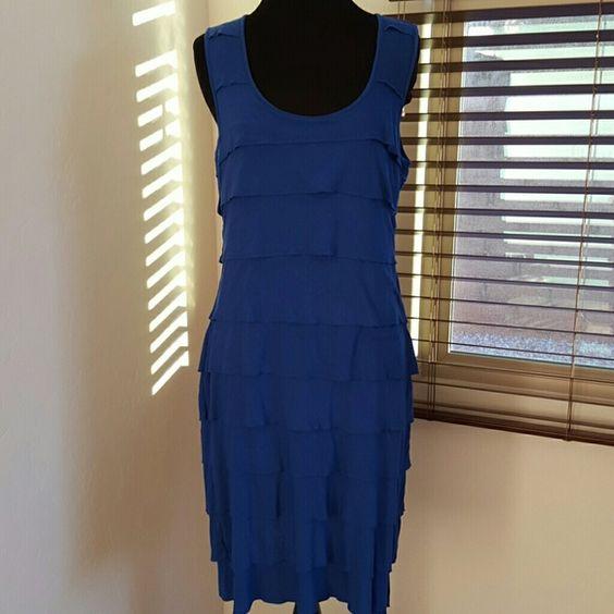 Calvin Klein blue tiered dress sz 8 Calvin Klein blue tiered dress sz 8 Beautiful  Layered or tiered dress  Size 8 NO TRADES Calvin Klein Dresses