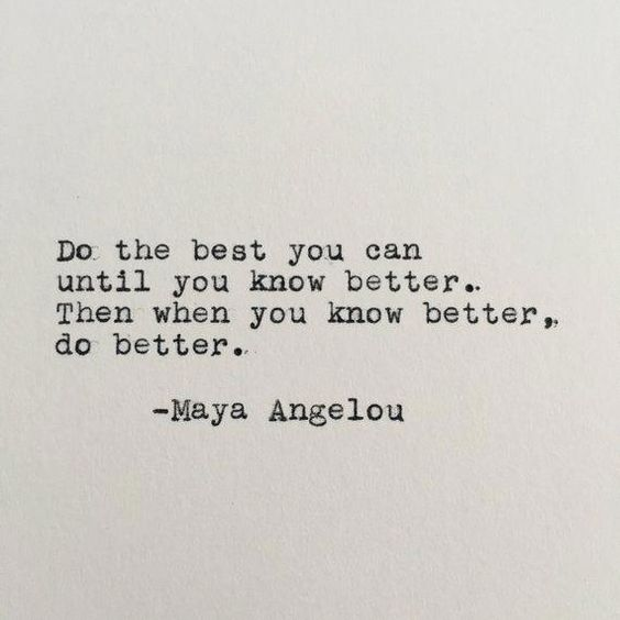 Maya Angelou Positivity Quote Typed on Typewriter - 4x6 White Cardstock #Makeup
