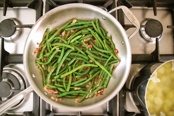 Jenny Steffens Hobick: Bacon Braised Green Beans