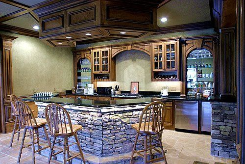Cool basement ideas to decorate your basement cool basement bar what makes a home pinterest - Cool home bar ideas ...