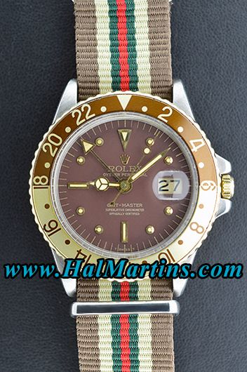 Rolex GMT-Master 1675 with Root Beer Dial, $4,900.00. #rolexgmt #rolexgmt-master #rolex1675 #rolex
