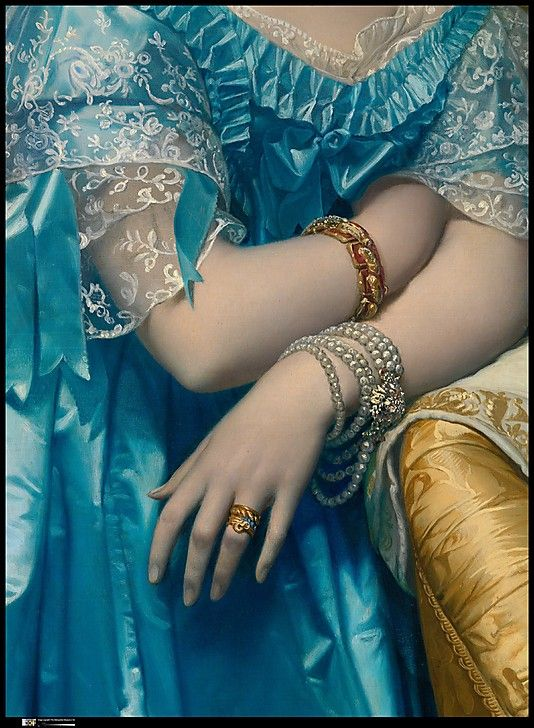 Princesse de Broglie [detail], 1851-53 Jean Auguste Dominique Ingres: