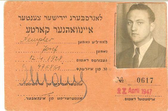 Landsberg Displaced Persons Camp identification card.  https://play.google.com/store/books/details/April_Voytko_Kempler_The_Altered_I?id=kUxNAgAAQBAJ