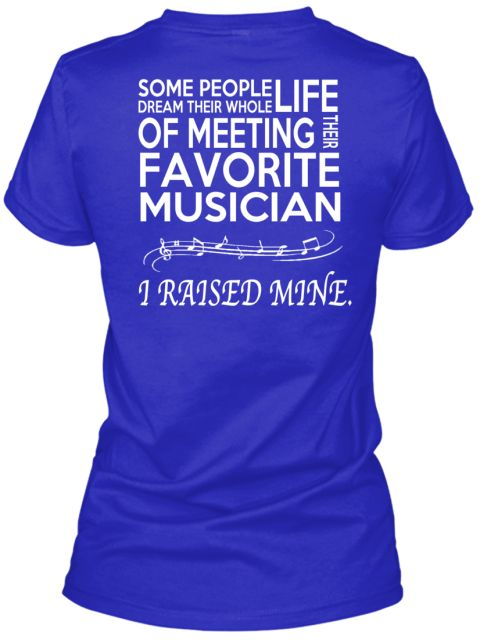 ***Limited Edition*** Band Mom Shirt Royal T-Shirt Back