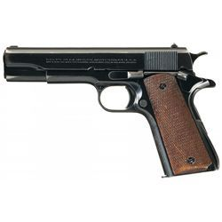 Desirable Pre-World War II Two-Digit Serial Number Colt 38 Super Semi-Automatic Pistol