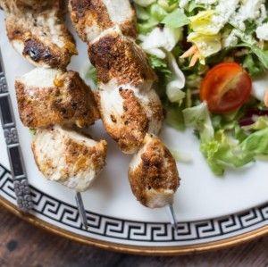 Spice-Crusted Greek Chicken Skewers - The Wanderlust Kitchen