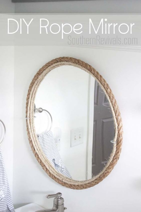 nautical mirror bathroom diy rope mirror tutorial nautical style master bath and 13797