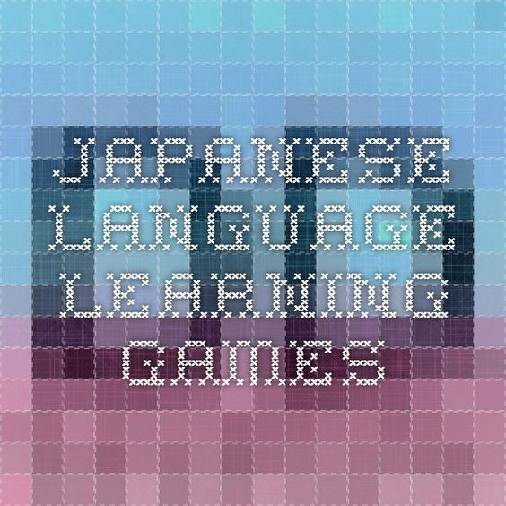 Japanese language learning games