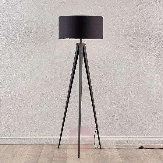 Zwart gouden vloerlamp Benik met statief look in 2020