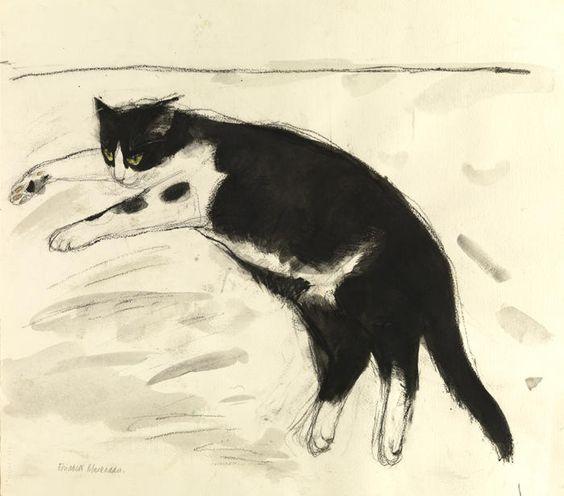 Elizabeth Blackadder Toby, 2000, watercolour & charcoal