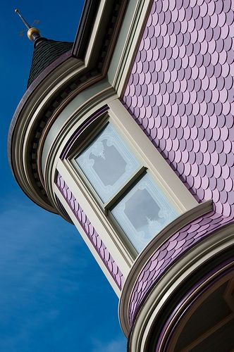 Wonderful Detail Two Colors Of Fish Scale Shingles For