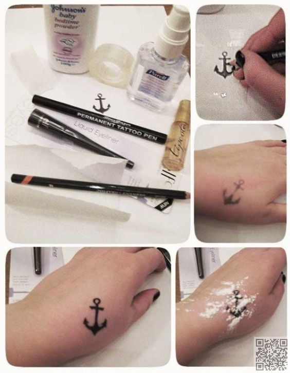 Love #Tattoos but Don't Want to Get Inked? Try #These Fabulous DIY tattoos! #Temporary